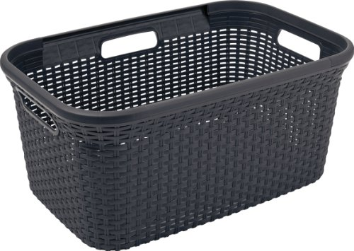 Wäschebox Plastik, Creme,