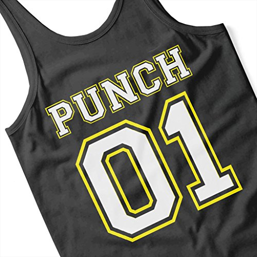 One Punch Man Punch 01 Sports Number Women's Vest Black