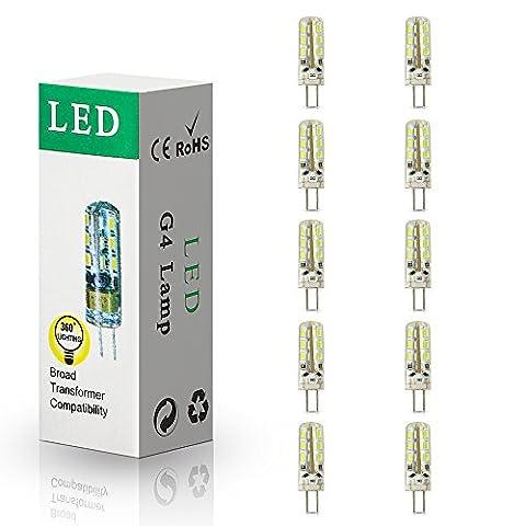 10x G4 1.5W LED Ampoule Blanc Froid (6000-7000K) LED bulb