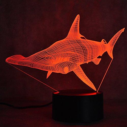 orangeww Neuheit 3D Colossal Dinosaurier Tischlampe LED USB Tier Wolfs 7 Farbwechsel Schlaf Nachtlicht Nacht Dekor Leuchte geschenk Raumdekoration Freund Kollege Geschenk