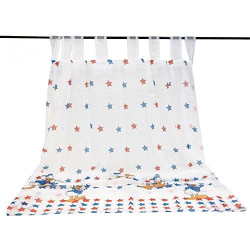 Tenda paperino star con passanti a torretta di caleffi misura cm.150*300 var. azzurro