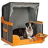 Hunde Strandkorb FELIX, anthrazit, mit Wassernapf, Hundekorb, Hundebett, von LILIMO ® - 2