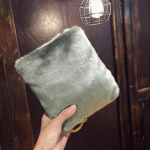 Longra Borsa a tracolla piccola a tracolla singola in materiale plastificato da donna Verde