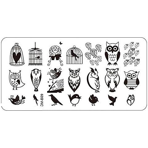 Nail stamping plates Oyedens Nail Art 1pc Imagen Placas De Estampación Del Sello Plantilla Herramienta De La Manicura Plantilla De Bricolaje (G)