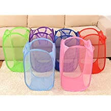 QHGstore Plegable de malla cesto de lavado cesta del almacenaje de la caja de juguetes para la ropa sucia