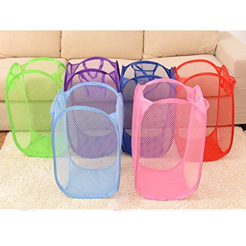 Topker Cesta plegable de la cesta de almacenaje de la cesta de la malla para la ropa sucia del juguete