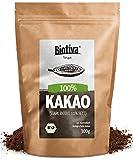 Bio-Kakao Pulver (300g) | 100% reines Kakaopulver | stark entölt (11% Fett) | ohne Zucker I ohne Zusatzstoffe - hochwertigste Biotiva® Qualität