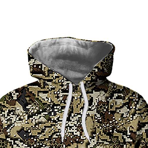 Natale Giacca da Uomo, Stampa 3D Stampa Felpe Maglione Felpa con Cappuccio Uomo,Uomini Cappotto Manica Lunga Maglione con Cappuccio da Uomo Camicia Cappotto Casual Pullover Qinsling