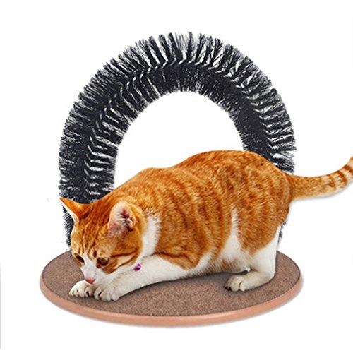GLQ Cat Arch Selbst Groomer Massagegerät, Kunststoff Borsten Arch Cat Groomer, Selbst Fellpflege und Massage Katze Spielzeug Katze Bürste Arch