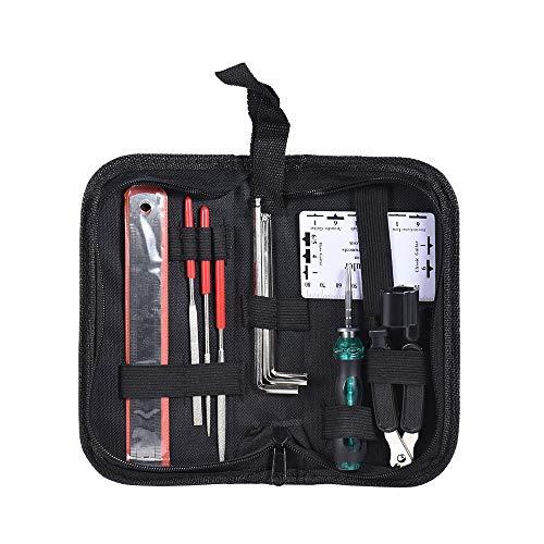 Preisvergleich Produktbild Gaddrt guitar Kit für Gitarre Werkzeugset für Gitarre Bass Mandoline Banjo Für Streichinstrument Reinigung Pflegen 20 × 10 × 5cm