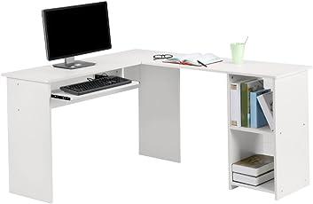 Attraktiv Wunderbar LANGRIA Computertisch Eckschreibtisch Bürotisch Arbeitstisch L  Form 140 X 120x 75cm Weiß