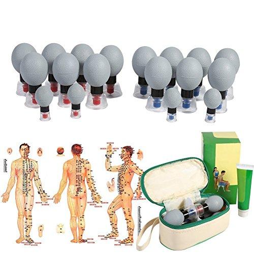Vakuum magnetisches Schröpfen, 18pcs / 12pcs / 8pcs Silikagel Saugschalen Akupunktur Moxibustion Massage Stelle für Entlastung von Muskelsschmerzen, Toning Cellulite (8pcs)