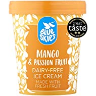 Blue Skies Dairy-Free Mango and Passion Fruit Ice Cream, 450 ml (Frozen)