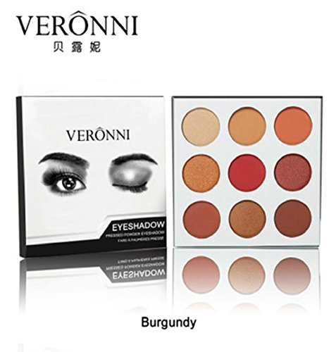 ZEZKT-Beauty 9 Farben Lidschatten-Palette Makeup Eyeshadow Palette Schimmer Perlisierter...