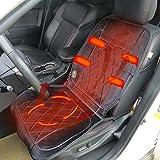 Riscaldatore per seggiolino auto universale 12 Volt Riscaldato Coprisedile per auto riscaldato Pad Riscaldatore per camion 24 Volt Riscaldamento invernale Coperta da TTBB-AUTOPARTS