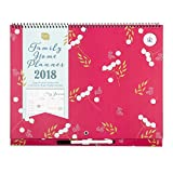 2018 Boxclever Press Family Home Planner calendar. Month-to-view family organiser with 6 columns. Start straightaway and use until December 2018.