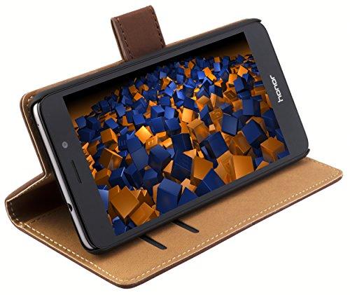 mumbi Tasche im Bookstyle für Huawei Honor 5C Tasche braun