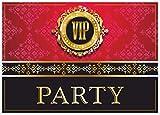 ArtUp.de 12 VIP Einladungskarten im Set | edel und außergewöhnlich feine Einladunkskarte zur Party Jugendweihe Einweihung | Einladungen zum Geburtstag und Ticket zum Einlass zur V.I.P. Feier