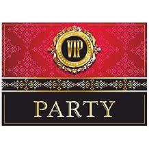 """""""VIP-EINLADUNGEN"""" 12 Stück / edle Einladungskarten zur V.I.P. Party / Geburtstag Einweihung Hochzeit Kindergeburtstag Einladungen Ticket Vorlagen Karten Set edel fein modern außergewöhnlich"""