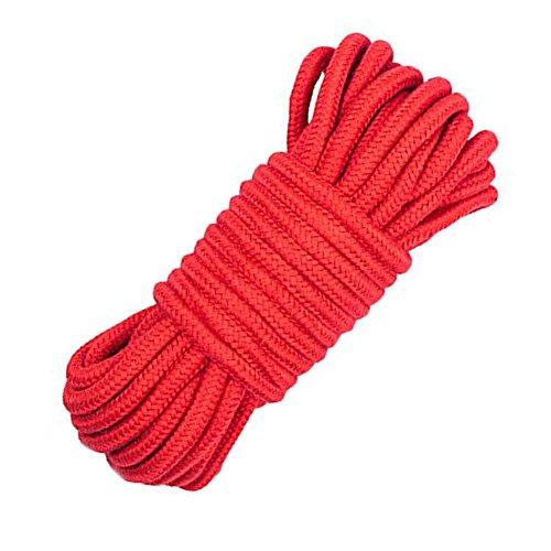 LUOOV Collection weich gedrehtes Seil Baumwolle Kordel, 32 ft 64 FT Länge, 1/3 Zoll Durchmesser