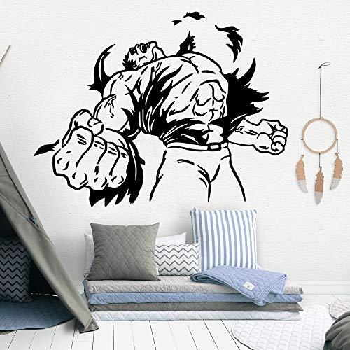 Feurige Wanddekor Vinyl Wandaufkleber Für Schlafzimmer Kinderzimmer Dekoration Zubehör Wandtattoos Kunst Aufkleber Wandbild 87 cm x 112 cm