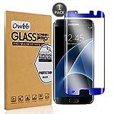 Owbb® Blau Gehärtetes Display schutzfolie Für Samsung Galaxy S7 Edge 3D Full Coverage High Transparent Explosionsgeschützter (Größe kleiner als Bildschirm Version,kompatibel mit Telefon Fall)