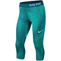 Nike niña g N Pro Capri aop3Pantalones Capri, niña, Color Turbo Grün/Weltraumblau/Helles Aqua Blau, tamaño Medium
