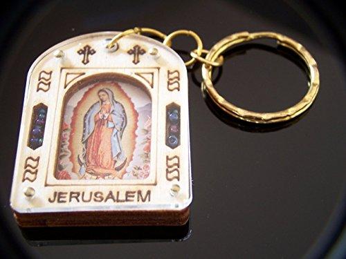 Heiligen Land Markt Holy Symbol Schlüssel Ring 5,1x 3cm Our Lady of Guadelupe mit Zertifikat verpackt als Geschenk (Kreuz Jüdische)