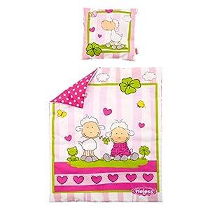 Heless 4000 Puppenbettdecke, mit Kissen (45 x 35 cm) Größe 17,5 x 17,5 cm