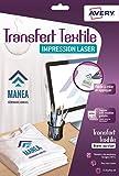 Avery C9403-15 Papiers Transferts T-shirt/Textile A4 Blanc/Clair
