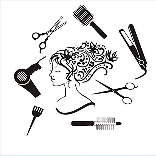 Mddjj sticker murale salone di bellezza manicure nail salon mano vinyl girl face sticker home decor parrucchiere acconciatura wall sticker