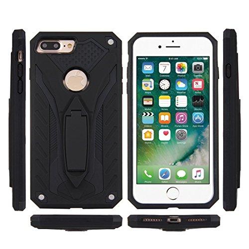 Mobiltelefonhülle - Für iPhone 7 Plus Tough Armor TPU + PC Kombi-Gehäuse mit Halter ( Farbe : Schwarz ) Schwarz