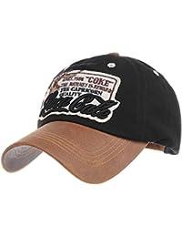 WITHMOONS Gorras de béisbol Gorra de Trucker Sombrero de Baseball Cap  Cotton Trucker Cap Faux Leather 809fcd44f1f