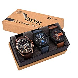BEARDO Analogue Boys' & Men's Watch (Assorted Dial Multicolored Strap) (Pack of 3)