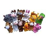 Covermason 12pcs Tierfingerpuppe Plüsch Kind Baby Frühe Bildung Spielzeug Geschenk
