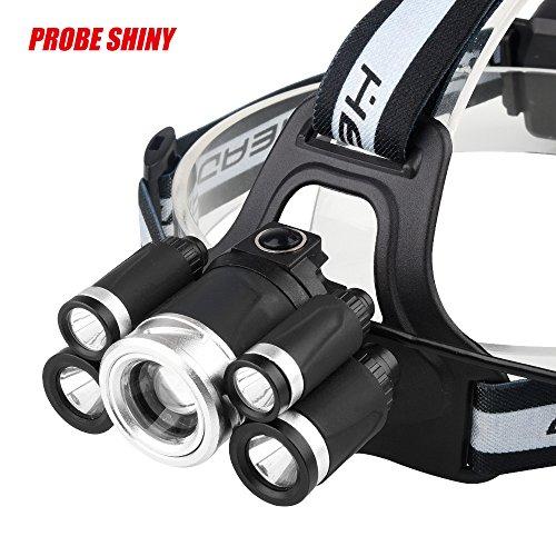 Linterna Frontal Led Alta Potencia 35000 Lúmenes Recargable USB y 1 Modos Impermeable Para Camping Pesca Ciclismo Carrera Caza (no incluida Batería)