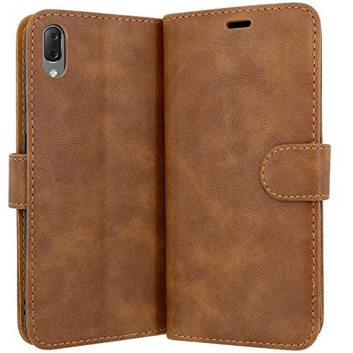 Case Collection Hochwertige Leder hülle für Sony Xperia L3 Hülle (5,7