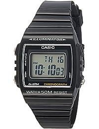 Casio W-215H-1AVEF - Reloj digital de cuarzo unisex, correa de resina color negro