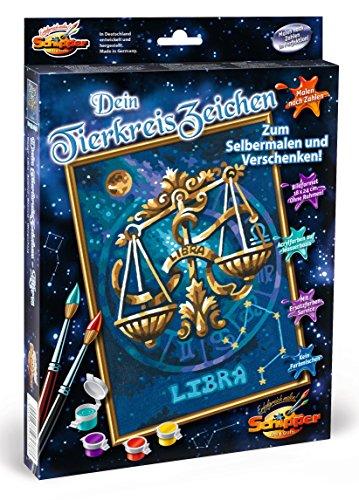 Preisvergleich Produktbild Schipper 609390678 - Malen nach Zahlen - Tierkreiszeichen Waage, 18 x 24 cm