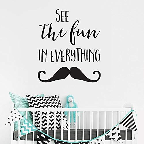 Zhuhuimin Sehen Sie den Spaß in allem Wandtattoos für Kinder Kinder Schlafzimmer Spielzimmer Vinyl Decals Wohnzimmer Art Decor 1 42X36cm (Kinder-spielzimmer Decals)