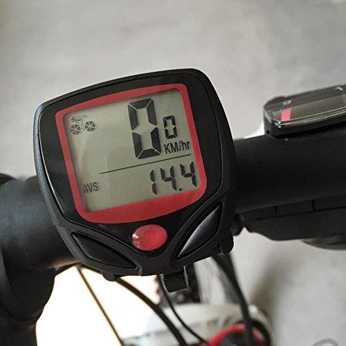 Demiawaking Fahrradcomputer Kilometerzähler mit LCD Hintergrundlicht