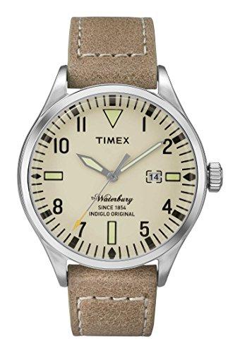 Timex Herren Analog Quarz Uhr mit Leder Armband TW2P83900 (Timex Armband Leder)