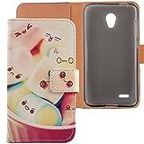 Lankashi Housse Case Cuir Cover Flip Etui Coque Protection Skin pour Alcatel One...