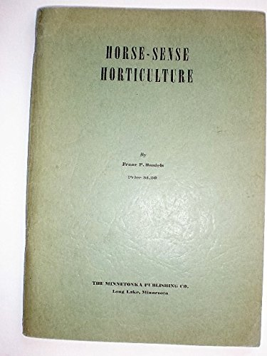 Horse-sense horticulture