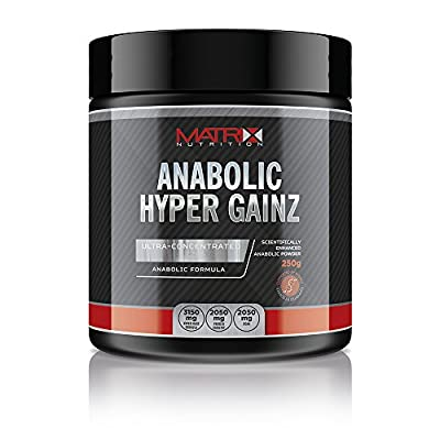 Matrix Nutrition Anabolic Hyper Gainz Powder 250g - Amino Acid - Testosterone Booster from Matrix Nutrition