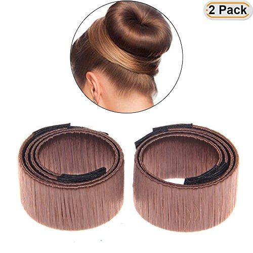 Careforyou Lot de 2 x Mode Coiffure Cheveux Donut en mousse ancien Français Twist Magic DIY Outil Chignon Maker