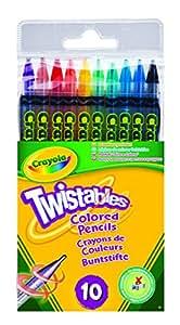 Crayola - Loisir Créatif - 10 Crayons De Couleur Twistable