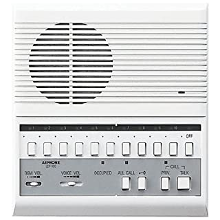 Aiphone LEF-10C Open Voice Selective Call Master Intercom with All-Call and Door-Release Buttons; Semi-Flush Mount; Accepts Up to 10 Connecting Door, Sub-Master, or Master Intercoms