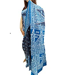 Ambika Creation Cotton Printed Saree(mulmul Cotton Printed Saree-without Blouse Piece)100%pure Cotton Mulmul With...