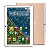 TOSCIDO 4G LTE Tablet 10 Zoll - Android 9.0 Zertifiziert von Google GMS,4GB RAM,32GB ROM+32GB TF Card ,Octa Core 2 GHz CPU schnelle Geschwindigkeit,Dual SIM,WiFi,Dual Stereo Lautsprecher - Golden